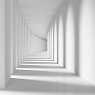 """(9'8 """"x 8'2"""" ft)White Passage Corridor Photo Wallpaper-3d  Spatial Extension Personality Wall Mural Wallpaper"""