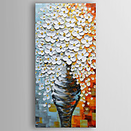 Oil Painting Money Tree in a Vase by Knife Hand Painted Canvas with Stretched Framed Ready to Hang
