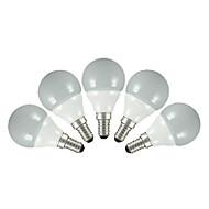 3W E14 E26/E27 Lâmpada Redonda LED G60 5 SMD 2835 200 lm Branco Quente Branco Frio AC 220-240 V 5 pçs