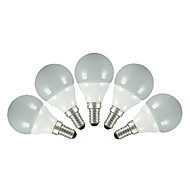 3W E14 E26/E27 LED Λάμπες Σφαίρα G60 5 SMD 2835 200 lm Θερμό Λευκό Ψυχρό Λευκό AC 220-240 V 5 τμχ