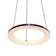 15w Pendant Light ,  Modern/Contemporary Electroplated Feature for LED Metal Living Room / Bedroom / Dining Room