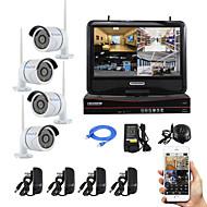 yanse® 10-inch scherm plug and play draadloze nvr kit p2p 960p HD IR nachtzicht beveiliging ip camera wifi CCTV-systeem