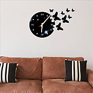 Rome Number Square Wall Acrylic Crystal Mirror Clock TV Background Wall Clock Clock Four Bedroom