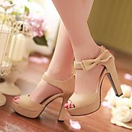Women's Shoes Heel Heels / Peep Toe / Platform Sandals / Heels Party & Evening / Dress / CasualBlack / Pink / Almond /