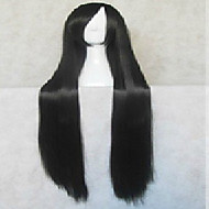 Popular Black Cosplay Wig Synthetic Hair Super Long  Animated Wigs Girl's Cartoon Wigs Party Wigs Full Wig