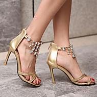 Women's Shoes Heel Heels / Peep Toe Sandals / Heels Wedding / Party & Evening / Dress Gold