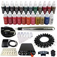 solong tetoválás rotációs tetováló gép&tartós smink toll 50 tű patron festékkészletet tápegység pedál ek102-6