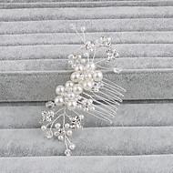 成人用 真珠 かぶと-結婚式 パーティー カジュアル オフィス 屋外 コーム 1個