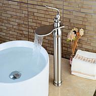 Centerset Single Handle un foro in Nickel spazzolato Lavandino rubinetto del bagno