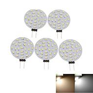 3W G4 Lâmpadas de Foco de LED MR11 36 SMD 3014 300-380 lm Branco Quente / Branco Frio Decorativa DC 12 / AC 12 V 5 pçs