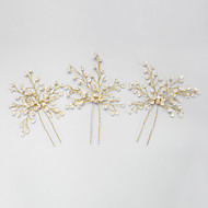 Women's Flower Girl's Crystal Alloy Headpiece-Wedding Special Occasion Hair Pin 2 Pieces