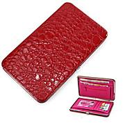 Crocodile Grain Women Long Wallets Leather Embossed Design Draw-out billetera Female Wallet Clutch Purses Carteira