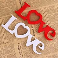 White Red Love Wooden Wedding Photo Picture Frame Rahmen DIY Home Decor