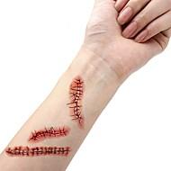 HC-Tatuajes Adhesivos-Waterproof-Otros-Mujer / Hombre / Adulto-Multicolor-PVC / Gel de sílice-1pcs-105*60mm-wound