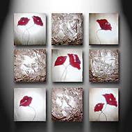 Ručně malované Abstraktní / ZátišíModerní Více než pět panelů Plátno Hang-malované olejomalba For Home dekorace