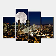 Modern Canvas Print Four Panels Ready to Hang