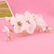 Mulheres / Menina das Flores Strass / Tecido Capacete-Casamento / Ocasião Especial Pentes de Cabelo / Flores 1 Peça Claro Irregular
