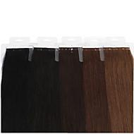 neitsi 100% קלטת שיער אדם תוספות שיער ישר שיער ערב עור pu