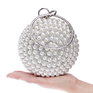 Women Bags Spring Summer Fall Winter All Seasons Polyester Evening Bag with Imitation Pearl Crystal/ Rhinestone for Wedding Event/Party