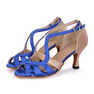 Személyre szabható-Kúpsarok-Szatén / Csillogó flitter-Hastánc / Latin / Dzsessz / Modern / Samba / Swing-cipők-Női