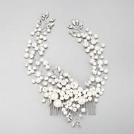 Femme / Jeune bouquetière Strass / Alliage / Imitation de perle Casque-Mariage / Occasion spéciale Peigne 1 Pièce Clair Rond