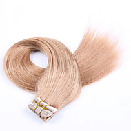 "16 ""-26"" 20st / set tape in human hair extensions pu huid inslag hair extensions blonde human hair extensions"