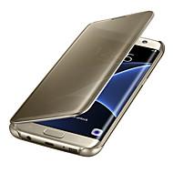 Varten Samsung Galaxy S8 S7 Edge AutomAutomaattinen auki/kiinni Pinnoitus Peili Flip Läpinäkyvä Etui Kokonaan peittävä Etui Yksivärinen PC