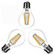 3 db. KWB E26/E27 4W 4 COB 400 lm Meleg fehér A60(A19) edison Régies (Vintage) Izzószálas LED lámpák AC 220-240 / AC 110-130 V