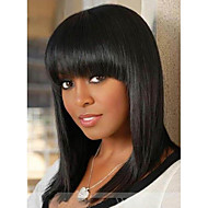 2016 Hot Full Bang Blac Chyna Style Yaki Straight Lace Front Gluless full lace wig For African American Women