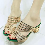 Women's Shoes Heel Heels / Peep Toe Sandals / Heels / Clogs & Mules Outdoor / Party & Evening / Dress Green / Red