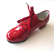 Non Customizable Kids' Dance Shoes Leatherette Leatherette Tap Oxfords Low Heel Beginner Black / Red / White