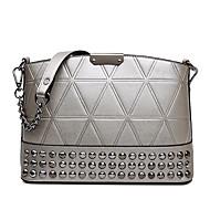 HOWRU ® Women 's PU Tote Bag/Single Shoulder Bag/Crossbody Bags-Silver/White
