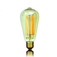 8W B22 / E26 / E26/E27 Lâmpada Redonda LED ST64 8 COB 450-650 lm Branco Quente Regulável / Decorativa AC 220-240 / AC 110-130 V 1 pç