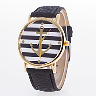 European Style Hot Fashion Stripe Anchor Leather Quartz Wrist Watches Cool Watches Unique Watches