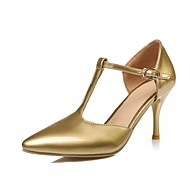 Women's / Girl's Spring / Summer / Fall Heels Leatherette Office & Career / Dress / Casual Stiletto Heel Black / Pink / Red / White / Gold