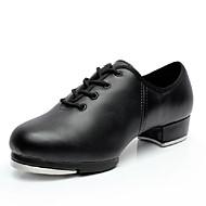 Scarpe da ballo-Non personalizzabile-Da uomo-Tip tap-Basso-Finta pelle-Nero