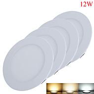 12W Luminária de Painel 60pcs SMD 2835 1050-1100lm lm Branco Quente / Branco Frio / Branco Natural Decorativa DC 12 / DC 24 V 4 pçs