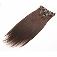 clip in human hair extensions brazilian haar clip in het verlengde straight 7pcs / set 70g