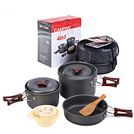 Outdoor Camping Pot With Cooking Utensils Portable Combination Sets Of Pots And Pans 2-3 People