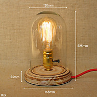 220V E26 E27 Decorative Cloth Bedside Lamp