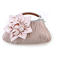 Women Chiffon / Satin Casual / Event/Party / Wedding Evening Bag White / Pink / Purple / Red / Gray / Black / Khaki