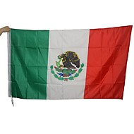 Large Mexican Flag Polyester Mexico National Banner Indoor Outdoor Home Decor(Without flagpole)