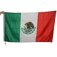 stor meksikansk flagg polyester mexico nasjonal banner innendørs utendørs hjem innredning (uten flaggstang)
