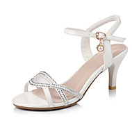 Women's Shoes Stiletto Heels/Sling back Sandals Office & Career/Dress Pink/White