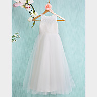 Flower Girl Dress Ankle-length Lace/Tulle A-line Sleeveless Dress