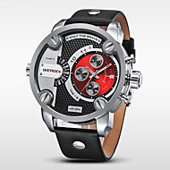 WEIDE® Luxury Men's Sports Dive Military Design Wristwatch Leather Strap Watch Cool Watch Unique Watch