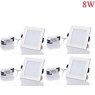 8W Downlight de LED 16pcs SMD 5730 750-800 lm Branco Quente / Branco Frio / Branco Natural Regulável AC 85-265 V 4 pçs
