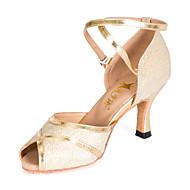 Sapatos de Dança ( Dourado ) - Mulheres/Crianças - Customizáveis - Latim