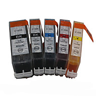 bloom®520bk + 521BK-521C / m / j compatibel inktpatroon voor Canon MP540 / MP560 / MP620 / MP640 / MP980 vol inkt (5 kleuren 1 set)