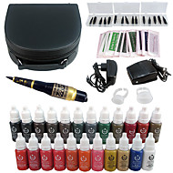 קעקוע solong מכונת שפתיים גבה עט קעקוע ערכת איפור קבוע להגדיר 23 צבעי איפור ek706-1